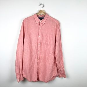 Banana Republic Linen Cotton Button Down Shirt L
